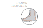 Thermo insulation For carefree enjoyment on the snow, we have developed a soft liner with thermo insulation, to keep their feet warm.
