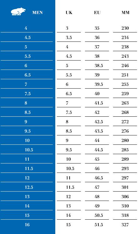 sizing-chart-karhu-mens-2016