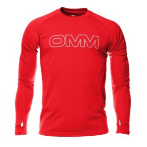 OC072-Trail-Tee-Long-Sleeve-Red-Front-1000px