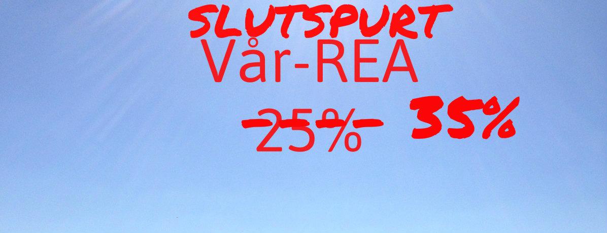 Vår-REA 25% Rabatt